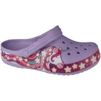 kengät Lapset Puukengät Crocs Fun Lab Unicorn Band Clog Violet