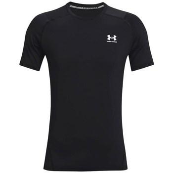 vaatteet Miehet Lyhythihainen t-paita Under Armour Heatgear Armour Fitted Mustat