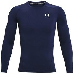 vaatteet Miehet T-paidat pitkillä hihoilla Under Armour Heatgear Armour Tummansininen