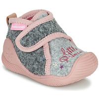 kengät Tytöt Tossut Biomecanics BIOHOME Harmaa / Vaaleanpunainen