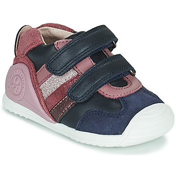 kengät Tytöt Matalavartiset tennarit Biomecanics BIOGATEO SPORT Laivastonsininen / Vaaleanpunainen