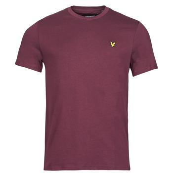 vaatteet Miehet Lyhythihainen t-paita Lyle & Scott ROBINA Viininpunainen