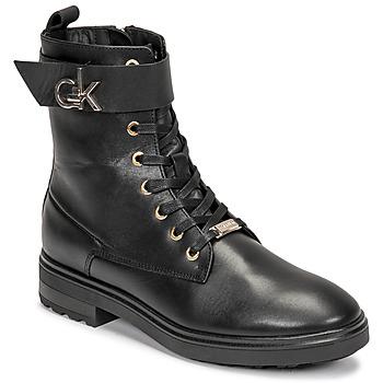 kengät Naiset Nilkkurit Calvin Klein Jeans CLEAT BIKER BOOT Musta