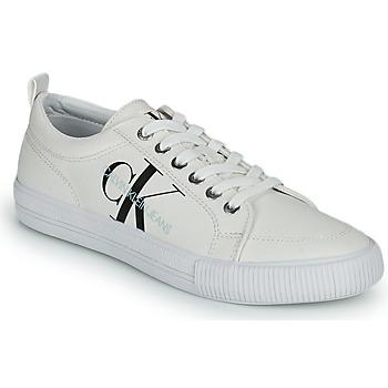 kengät Naiset Matalavartiset tennarit Calvin Klein Jeans VULCANIZED LACEUP SNEAKER Valkoinen