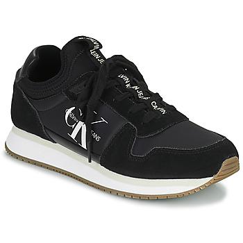 kengät Naiset Matalavartiset tennarit Calvin Klein Jeans RUNNER LACEUP Musta
