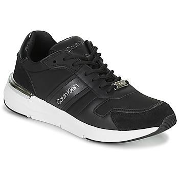 kengät Naiset Matalavartiset tennarit Calvin Klein Jeans FLEXRUNNER MIXED MATERIALS Musta / Hopea