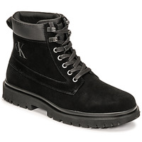 kengät Miehet Bootsit Calvin Klein Jeans LUG MID LACEUP BOOT HIKE Musta