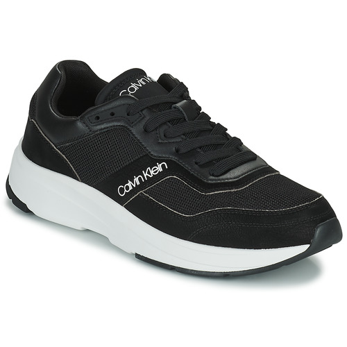 kengät Miehet Matalavartiset tennarit Calvin Klein Jeans LOW TOP LACE UP MIX Musta