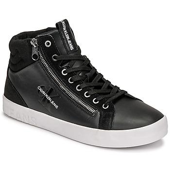 kengät Miehet Korkeavartiset tennarit Calvin Klein Jeans VULCANIZED MID LACEUP Musta