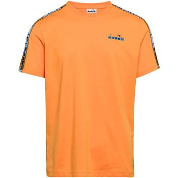 vaatteet Miehet Lyhythihainen t-paita Diadora 502176085 Oranssi