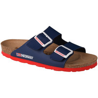 kengät Naiset Sandaalit Geographical Norway Sandalias Bios Doble Hebilla Bleu marine