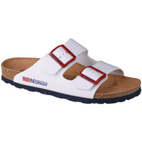 kengät Naiset Sandaalit Geographical Norway Sandalias Bios Doble Hebilla Blanc