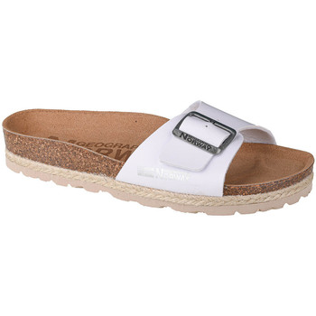 kengät Naiset Sandaalit Geographical Norway Sandalias Bios Pala Hebilla Blanc