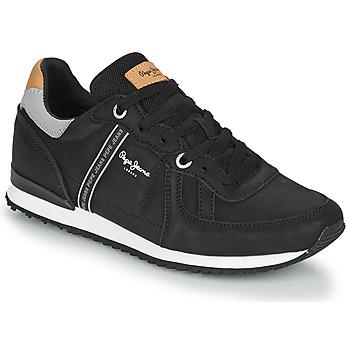 kengät Miehet Matalavartiset tennarit Pepe jeans TINKER ROAD Musta