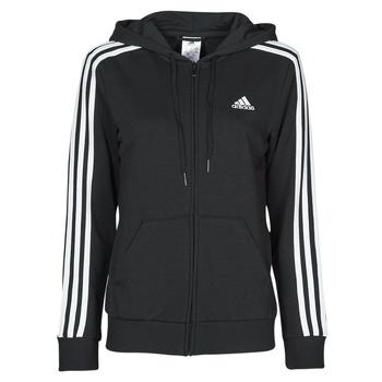 vaatteet Naiset Svetari adidas Performance W 3S FT FZ HD Musta
