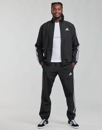 vaatteet Miehet Verryttelypuvut adidas Performance M 3S WV TT TS Musta