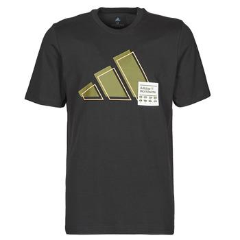 vaatteet Miehet Lyhythihainen t-paita adidas Performance 3BAR LOGO TEE Musta