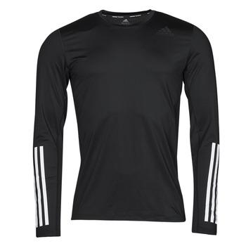 vaatteet Miehet T-paidat pitkillä hihoilla adidas Performance TF LS FT 3S Musta