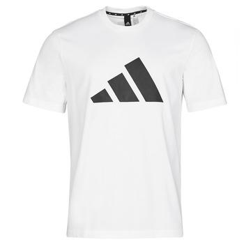 vaatteet Miehet Lyhythihainen t-paita adidas Performance M FI 3B TEE Valkoinen