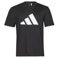 vaatteet Miehet Lyhythihainen t-paita adidas Performance M FI 3B TEE Musta