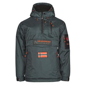 vaatteet Miehet Parkatakki Geographical Norway BARKER Harmaa / Tumma