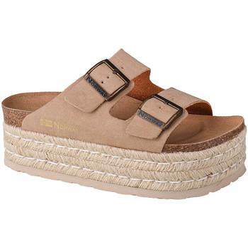 kengät Naiset Sandaalit Geographical Norway Sandalias Plataforma Comoda Beige