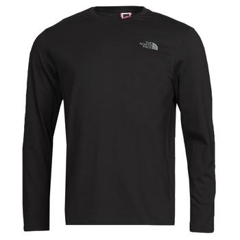 vaatteet Miehet T-paidat pitkillä hihoilla The North Face L/S EASY TEE Musta