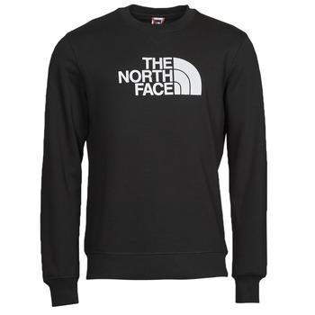 vaatteet Miehet Svetari The North Face DREW PEAK CREW Musta / Valkoinen