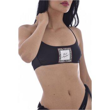 vaatteet Naiset Bikinit Karl Lagerfeld KL21WTP12 LIBRARY Bandeau Musta