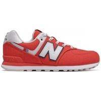 kengät Lapset Matalavartiset tennarit New Balance 574 Punainen