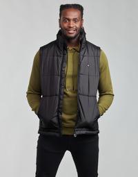 vaatteet Miehet Toppatakki adidas Originals PADDED VEST Musta