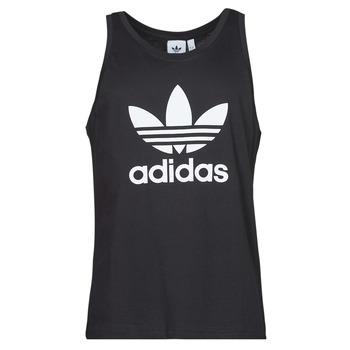 vaatteet Miehet Hihattomat paidat / Hihattomat t-paidat adidas Originals TREFOIL TANK Musta