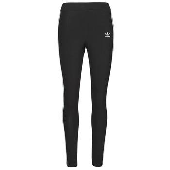 vaatteet Naiset Legginsit adidas Originals 3 STRIPES TIGHT Musta
