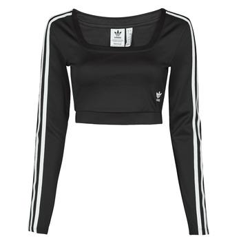 vaatteet Naiset T-paidat pitkillä hihoilla adidas Originals LONG SLEEVE Musta