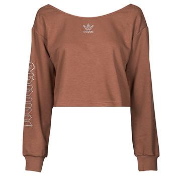 vaatteet Naiset Svetari adidas Originals SLOUCHY CREW? Ruskea