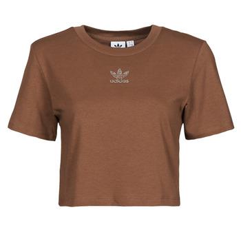 vaatteet Naiset Lyhythihainen t-paita adidas Originals CROPPED  TEE Ruskea