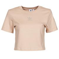 vaatteet Naiset Lyhythihainen t-paita adidas Originals CROPPED  TEE Beige