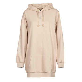 vaatteet Naiset Lyhyt mekko adidas Originals HOODIE DRESS Beige