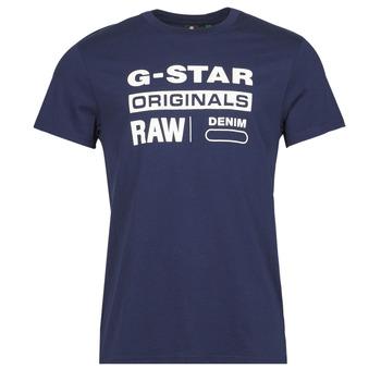 vaatteet Miehet Lyhythihainen t-paita G-Star Raw GRAPHIC 8 R T SS Sininen