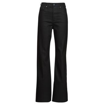 vaatteet Naiset Bootcut-farkut G-Star Raw DECK ULTRA HIGH WIDE LEG Musta
