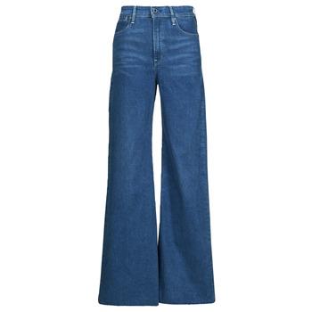 vaatteet Naiset Bootcut-farkut G-Star Raw DECK ULTRA HIGH WIDE LEG Sininen