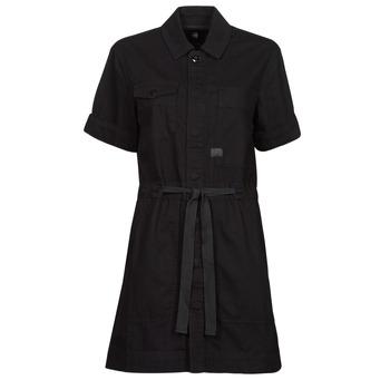 vaatteet Naiset Lyhyt mekko G-Star Raw ARMY DRESS SHORT SLEEVE Musta