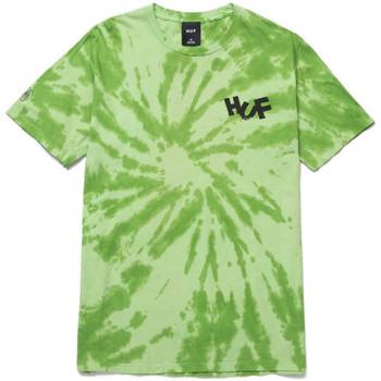vaatteet Miehet T-paidat & Poolot Huf T-shirt haze brush tie dye ss Vihreä