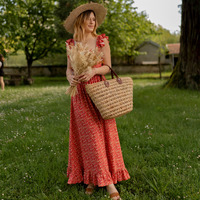 vaatteet Naiset Pitkä mekko Céleste AURORE version courte Punainen