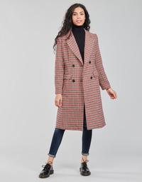 vaatteet Naiset Paksu takki Betty London PIVENE Musta / Punainen
