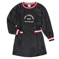 vaatteet Tytöt Lyhyt mekko Karl Lagerfeld RUBIS Musta