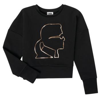 vaatteet Tytöt Svetari Karl Lagerfeld CORNALINE Musta