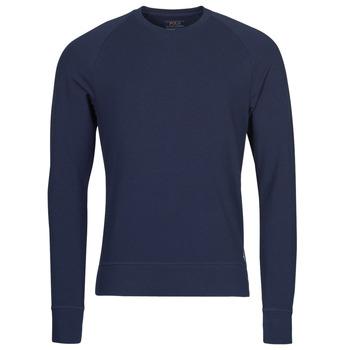 vaatteet Miehet T-paidat pitkillä hihoilla Polo Ralph Lauren LS CREW SLEEP TOP Laivastonsininen