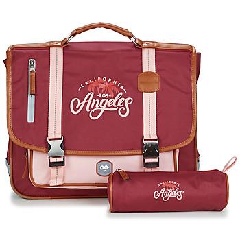 laukut Tytöt Koululaukut Ooban's FUNNY LOS ANGELES CARTABLE 38 CM Vaaleanpunainen