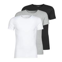 vaatteet Miehet Lyhythihainen t-paita Tommy Hilfiger STRETCH TEE X3 Valkoinen / Harmaa / Musta